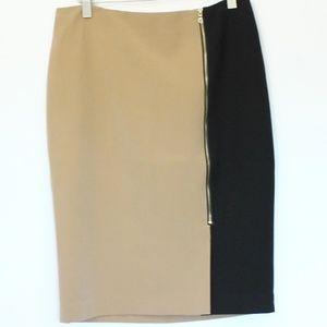 Ann Taylor Pencil Skirt sz 6 NEW Colorblock